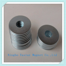 N45 Neodymium Ring Magnet with Zinc Coating