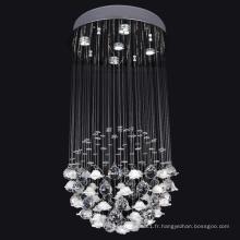 lampe suspension en aluminium éclairage intérieur décoratif