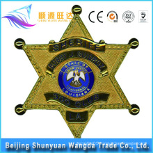 China Manufacture Offer Metal Star Sharped Custom Pin Badge
