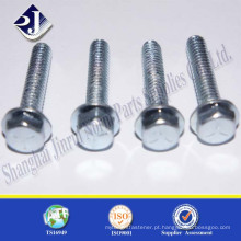 Fornecedor de hardware alibaba parafuso de flange de zinco de aço suave
