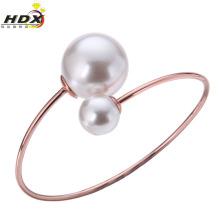 Pulseras de acero inoxidable Pulseras de perlas