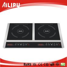 Table de cuisson à induction 2 brûleurs portatifs de cuisine d'approbation de CB CB Sm20-Dic05
