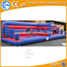Trampolín inflable del salto elástico del tirón del amortiguador auxiliar, funcionamiento inflable del amortiguador auxiliar, remolcador tirante