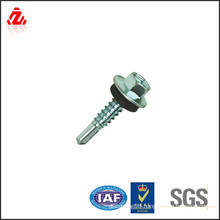 High strength self drilling roofing screw with EPDM washer