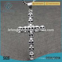 2016 bijoux punk de grande qualité bijoux en acier inoxydable croix design pour garçons