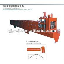 QJ ridge cap 312 teja rodillo que forma la máquina