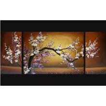 Handmade arte asiática flor de cerejeira pintura a óleo sobre tela (FL3-033)