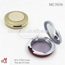 MC5030 Caixa compacta de ouro de luxo / caixa de pó com janela de panela para esponja