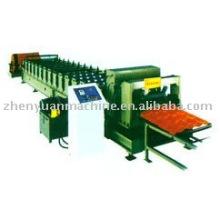 Máquina de laminado de techos, teja de esmaltes de colores que forma la máquina, laminadora de rollos de chapa de acero