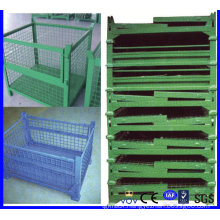Warehouse Foldable Storage Metal Wire Mesh Box/Container for Sale