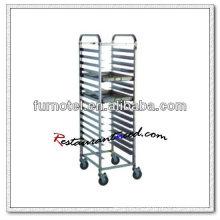 S072 Assembling Higher Einseitig Edelstahl GN Pan Trolley