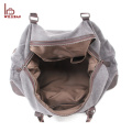 Outdoor Canvas Gym Duffle Bag Leather Travel Bag Man