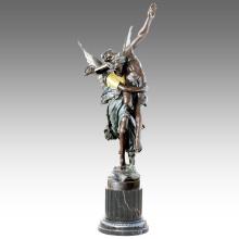 Große Figur Statue Winkel Dekoration Bronze Skulptur Tpls-026