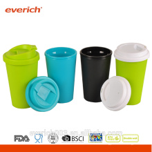 Doppelwandige PP-isolierte Kaffee-Plastikbecher 400ml