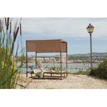 Venda quente ao ar livre All Weather beach gazebo vime de vime