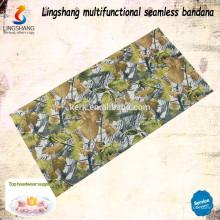 Cheap wholesale neck warmer decorative headwear polyester custom bandana