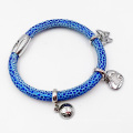 Hot Sell Stingrag Leather Bracelet with Custom Made Charms