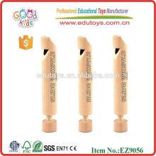 Mini juguete de madera natural del silbido Juguete musical de madera popular para los cabritos