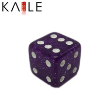 Purple with White dot dice for games