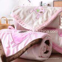 Couvertures doubles de bébé brodées / couverture 76 * 102cm