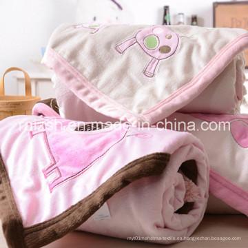 Mantas bordadas dobles del bebé / manta del asimiento los 76 * 102cm