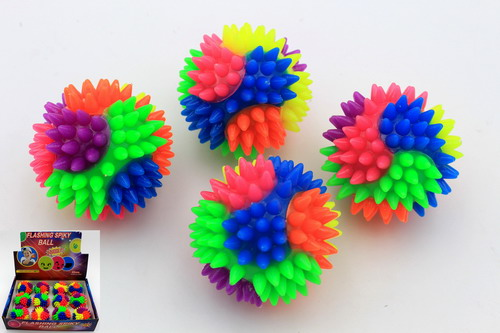Rainbow Flashing Spike Balls