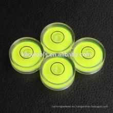 25 x 10mm mini burbujas redondas de nivel de burbuja