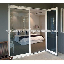 Высококачественный внешний или внутренний дизайн пластиковых стеклянных дверей / цены на алюминиевые двери