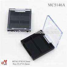 MC5146A Palette de maquillage à l'épreuve des yeux vierges en gros avec deux petits cas