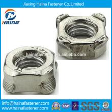 Aço Inoxidável aço carbono DIN928 squre Porca de solda, DIN928 porca de solda