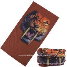 Custom Made Tiger Printed Outdoor Sports Headwrap Multifunktionale Nahtlose Bandanas Neck Tubular