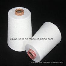 Fils de viscose filés en fil blanc cru de 40 cents pour le tissage
