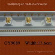 PU Corner Dekorative Gesims Crown Molding für Interieur / Exterieur