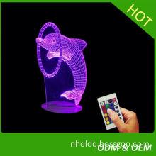 fashionable custom made 3D Illusion LED Table Lamp Night Light