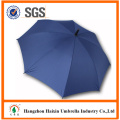 Blue Color Large Cheap Custom Print Umbrella with Plastic Hook Handle