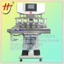 T whole sale and retail 6 color ink cup safe helmet printing machine