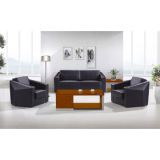 2014 new design cheap promotion leather PU receiption office sofa