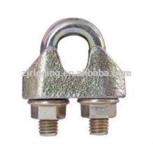 Cerradura de metal galvanizado de bloqueo rápido EN13411-5 hecho en china galv clips de cable de acero maleable