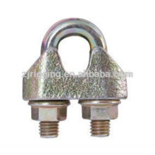 Le verrouillage galvanisé en métal galvanisé EN13411-5 a fait dans des agrafes malléables de corde de câble de porcelaine de galv
