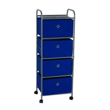 4 Drawer Storage Rack with Rolling