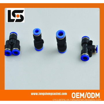 La fábrica de China Pu empuja la conexión de conexión neumática neumática plástica recta de la unión