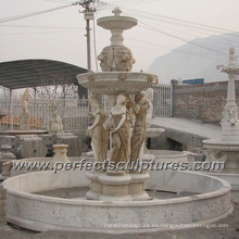 Fuente de agua de mármol de piedra para la escultura del jardín (SY-F354)