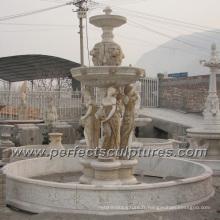 Fontaine d'eau de marbre en pierre pour sculpture sur jardin (SY-F354)