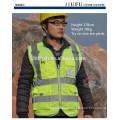 Chaleco reflectante Resalte ropa reflectante seguridad de la construcción impresión fluorescente Alta visibilidad chaleco reflectante de seguridad