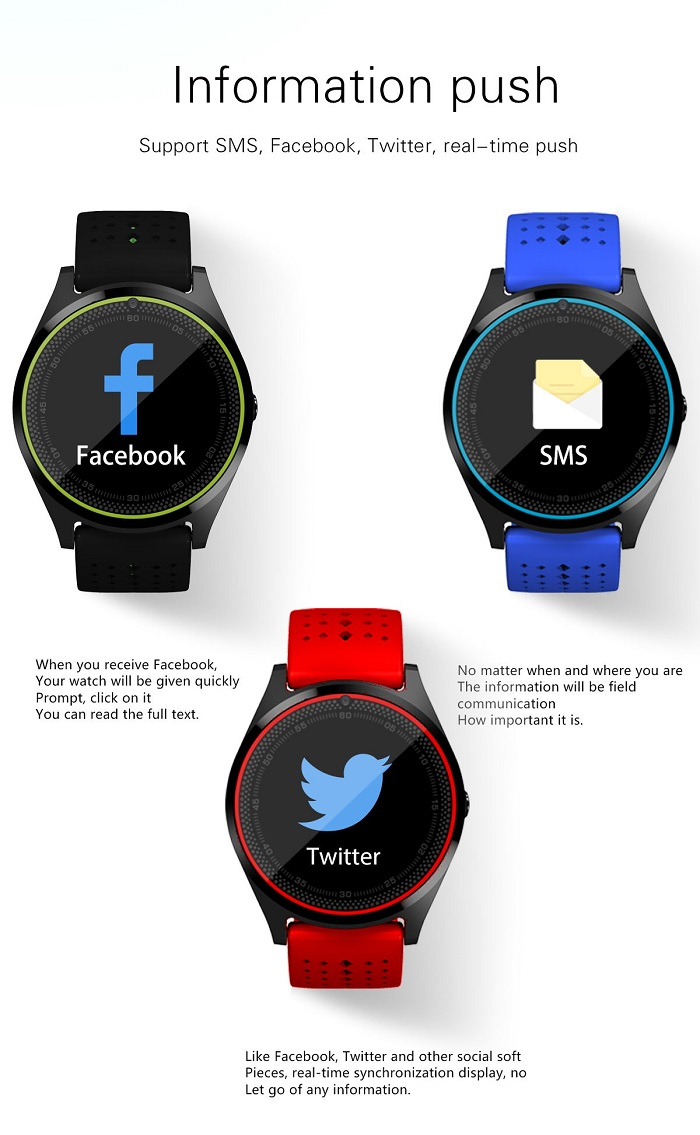 DL-V9 Translucent touchscreen smart watches