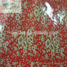 PVC laminado impreso a algodón poliéster TC tela de materia textil casera
