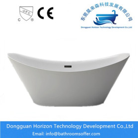 Seamless hydraulic standing bathtub with Drain