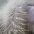 Fashion Fox Fur Tail Scarf Plush Real Raccoon and Fox Fur Scarf avec Fox Tails