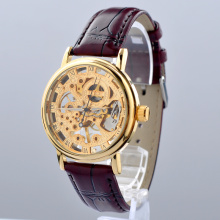 Classic automatic movement skeleton mechanical mens watch