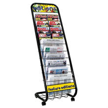 Exhibition Stand Display Stand Magazine Metal Shelf Steel Display (GDS-021)